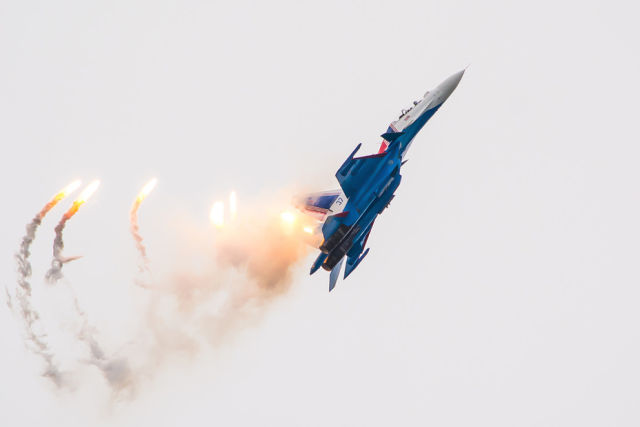 Одиночный пилотаж Су-30СМ