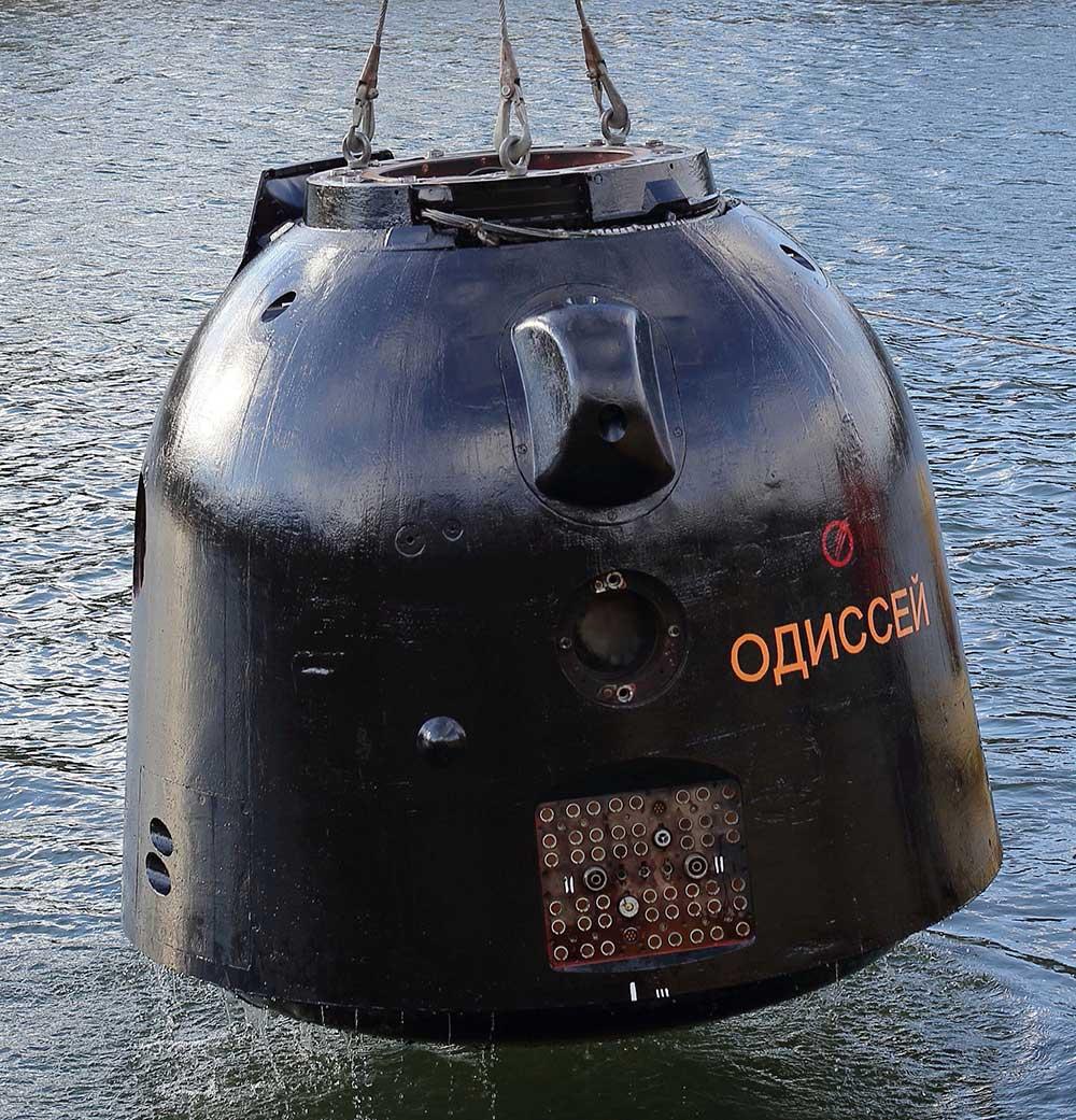 """Приёмо-сдаточные испытания макета """"Одиссей"""", имитирующего спускаемый аппарат транспортных пилотируемых кораблей """"Союз ТМА-М""""."""