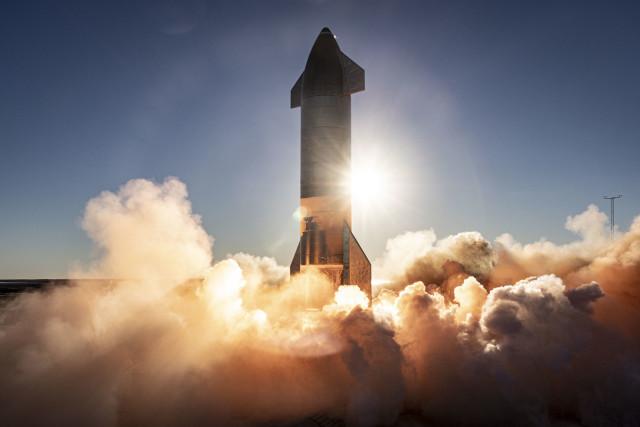 Огневые испытания прототипа Starship SN8