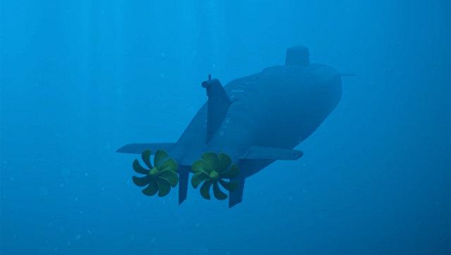 Демонстрация принципа действия океанской многоцелевой системы с беспилотными подводными аппаратами во время послания президента РФ Владимира Путина Федеральному собранию. Архивное фото.