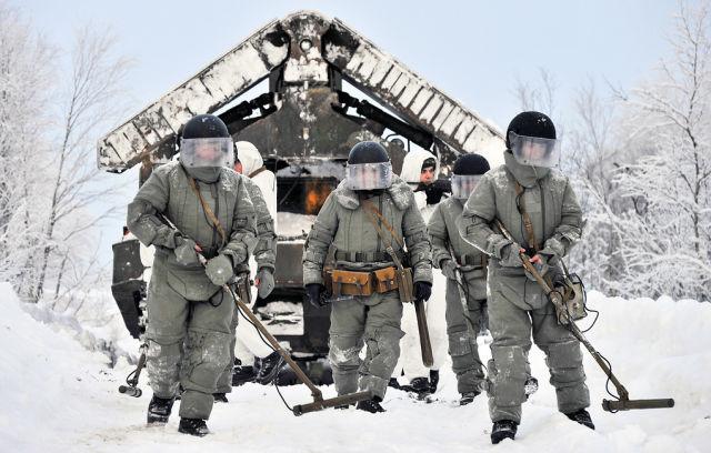 Военнослужащие-саперы ВС РФ