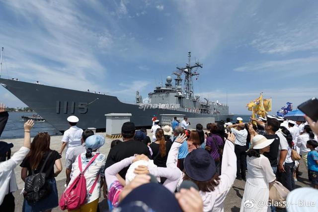 Прибытие на Тайвань одного из двух приобретенных для ВМС Китайской Республики бывших американских фрегатов типа Oliver H. Perry - PFG 1115 Ming Chuan (бывший FFG 50 Taylor). Цзо Ин (Гаосюн), 13.05.2017.