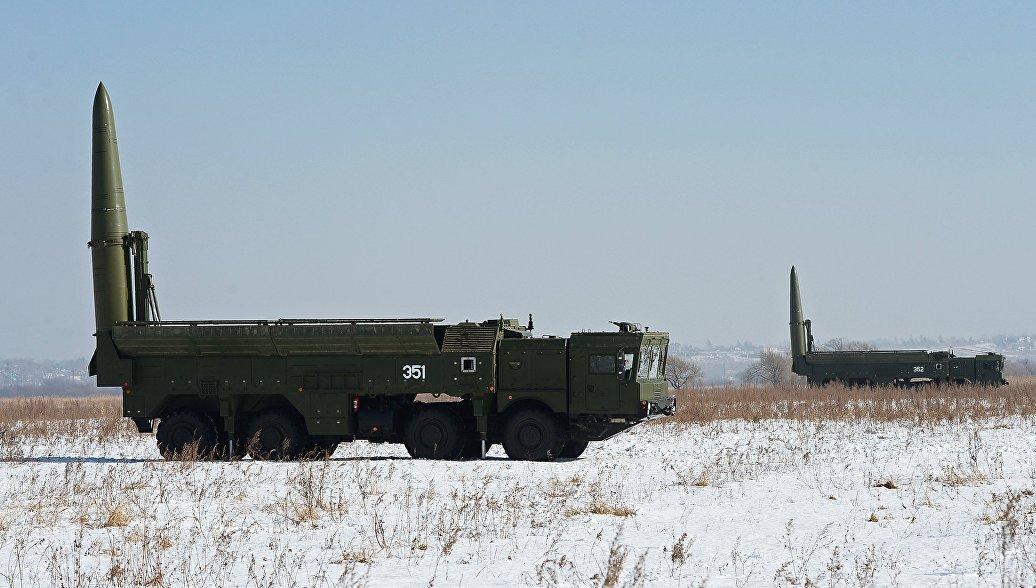 Оперативно-тактические ракетные комплексы Искандер-М. Архивное фото.