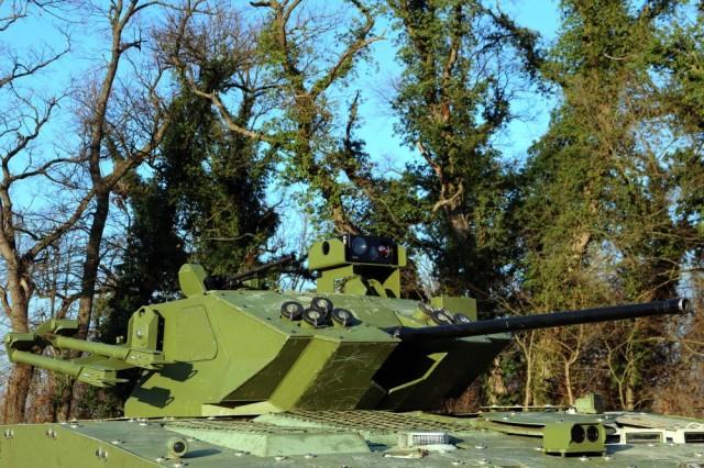 Опытный образец модернизированной в Сербии югославской боевой машины пехоты М-80А. Никинчи, 30.12.2019