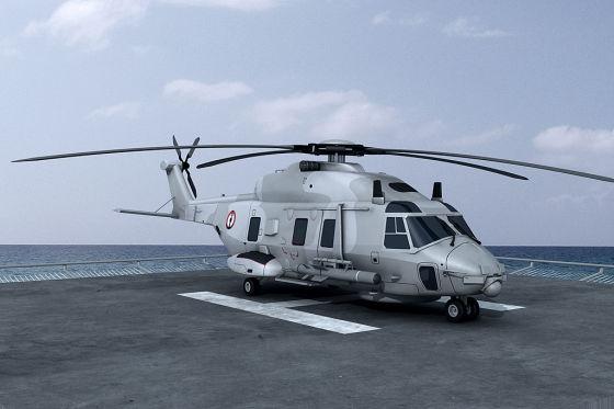Рисунок вертолета NH90