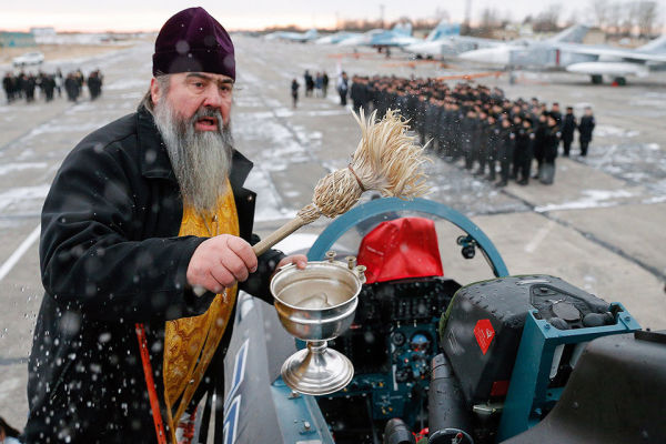 Освящение Су-30СМ