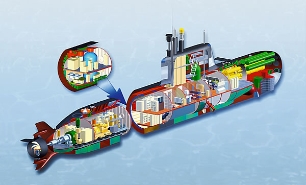 """Разработанный ОАО «СПМБМ «Малахит» проект малой подводной лодки П-650Э с воздухонезависимой энергетической установкой водородного типа серии """"Кристалл""""."""