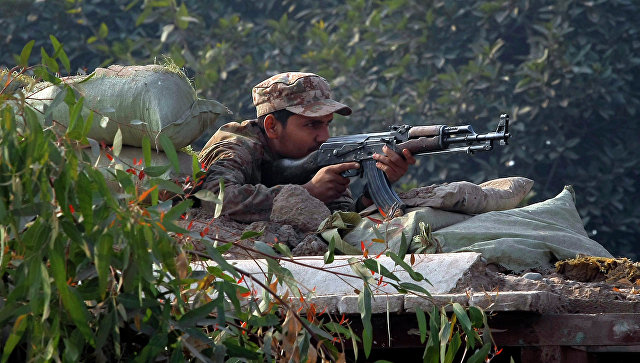 Пакистанский военный.