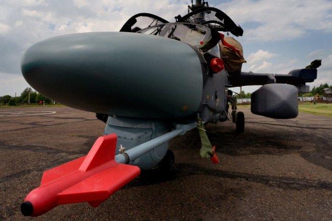 """Палубный вертолет Ка-52К """"Катран""""."""