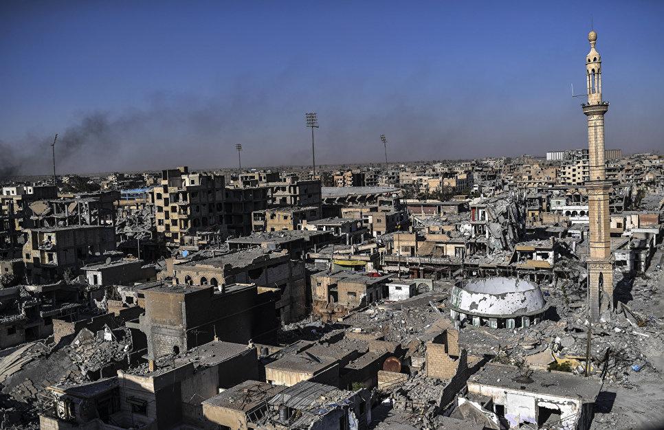 Панорама Ракки, Сирия. Октябрь 2017 года.