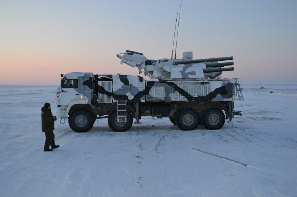 Зенитный ракетно-пушечный комплекс «Панцирь-С1». Стрельбы в условиях Арктики.
