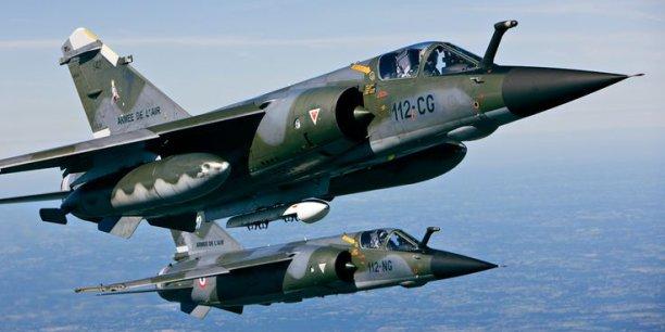 Пара истребителей Dassault Mirage F.1 (регистрация 112-NG и 112-СG) ВВС Франции.