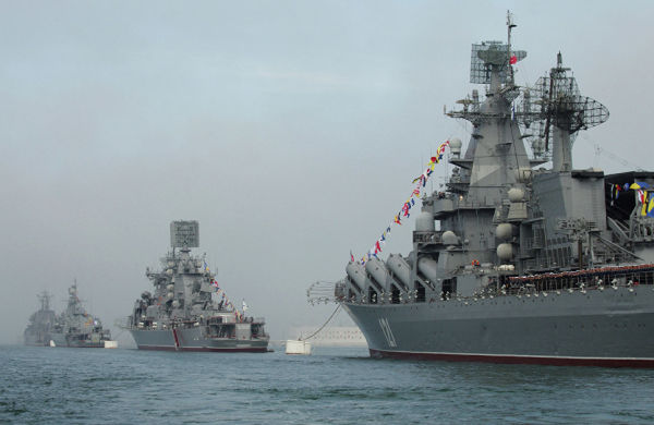 Парад кораблей Черноморского Флота России