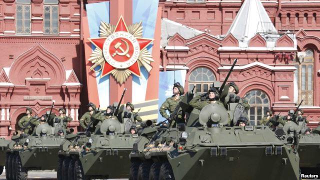 Военный парад на Красной площади в Москве 9 мая 2014 года.