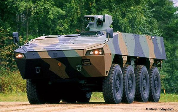 Бронетранспортер Patria AMV (Armoured Modular Vehicle). Источник: www.military-today.com.