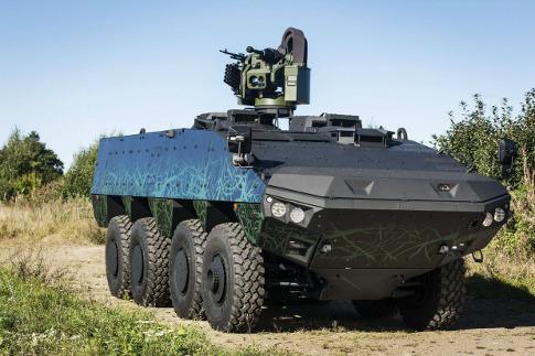 Первый опытный образец колесной бронированной платформы нового поколения New Vehicle Concept разработки Patria.