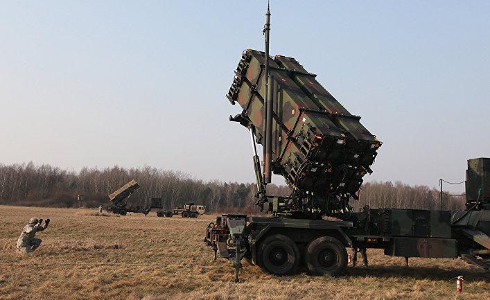 Американский зенитный ракетный комплекс Patriot во время совместных учений с польскими военными.