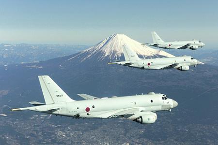 Патрульные самолеты Р-1. Фото с сайта www.mod.go.jp