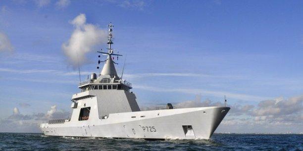 Входящий в состав ВМС Франции патрульный корабль P 725 L'Adroit, построенный французским судостроительным объединением DCNS (ныне Naval Group) в качестве прототипа-демонстратора кораблей серии проекта Gowind.