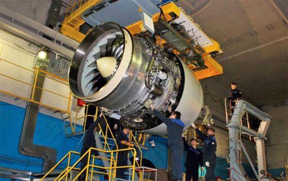 Сборка двигателя ПД-14