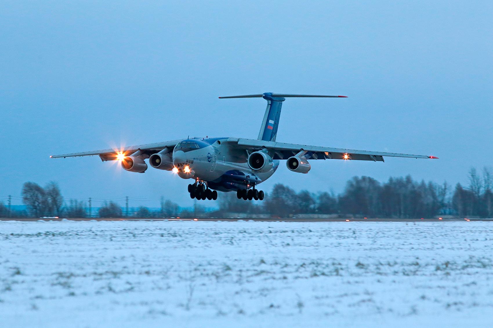 Летные испытания опытного двигателя ПД-14 №100-07 в составе летающей лаборатории Ил-76ЛЛ.