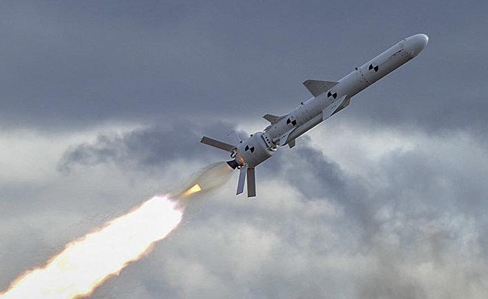 """Первые испытания новой украинской крылатой ракеты наземного базирования """"Нептун""""."""