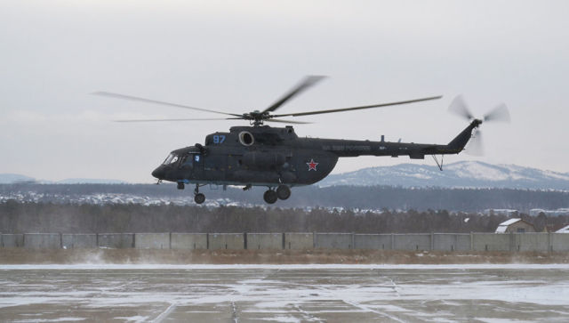 Первый арктический вертолет Ми-8АМТШ-ВА. Архивное фото