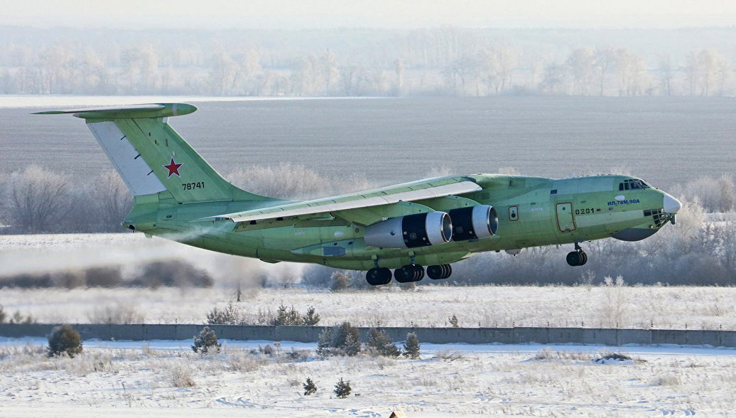 Первый полет первого летного образеца самолета-топливозаправщика Ил-78М-90А в Ульяновске. 25 января 2018.