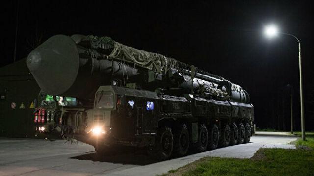 """ПГРК """"Ярс"""" Новосибирского ракетного соединения перед выходом на маршруты боевого патрулирования"""