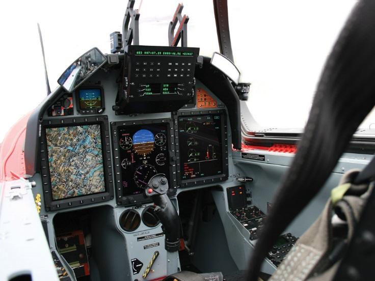 Кабина самолета Pilatus  РС-21.