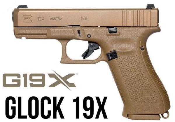 Пистолет Glock 19X.