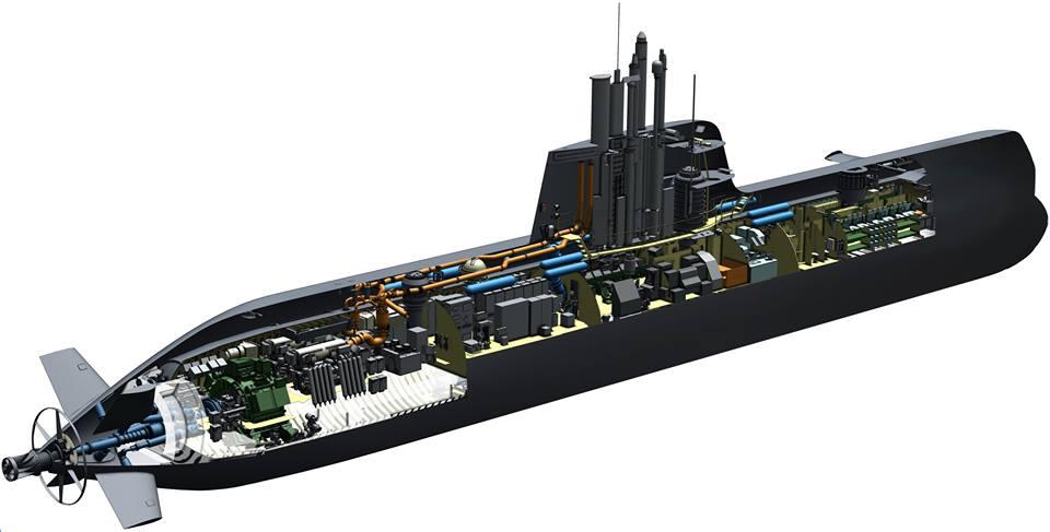 Изображение строящихся для ВМС Сингапура неатомных подводных лодок германского проекта 218SG.