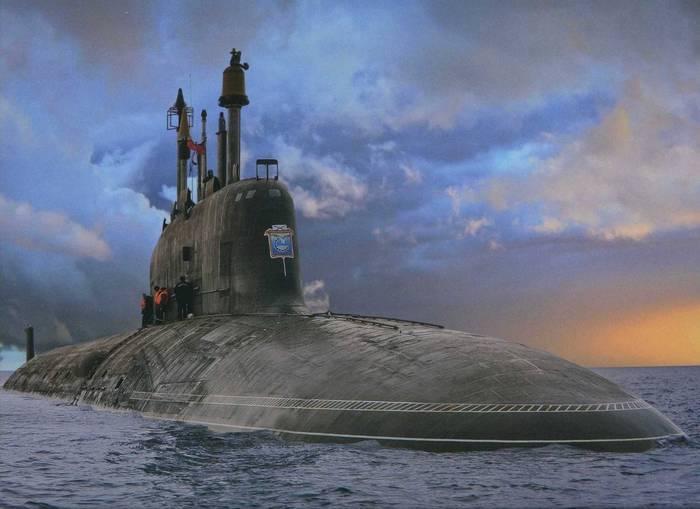 """Многоцелевая атомная подводная лодка проекта 885 """"Северодвинск""""."""