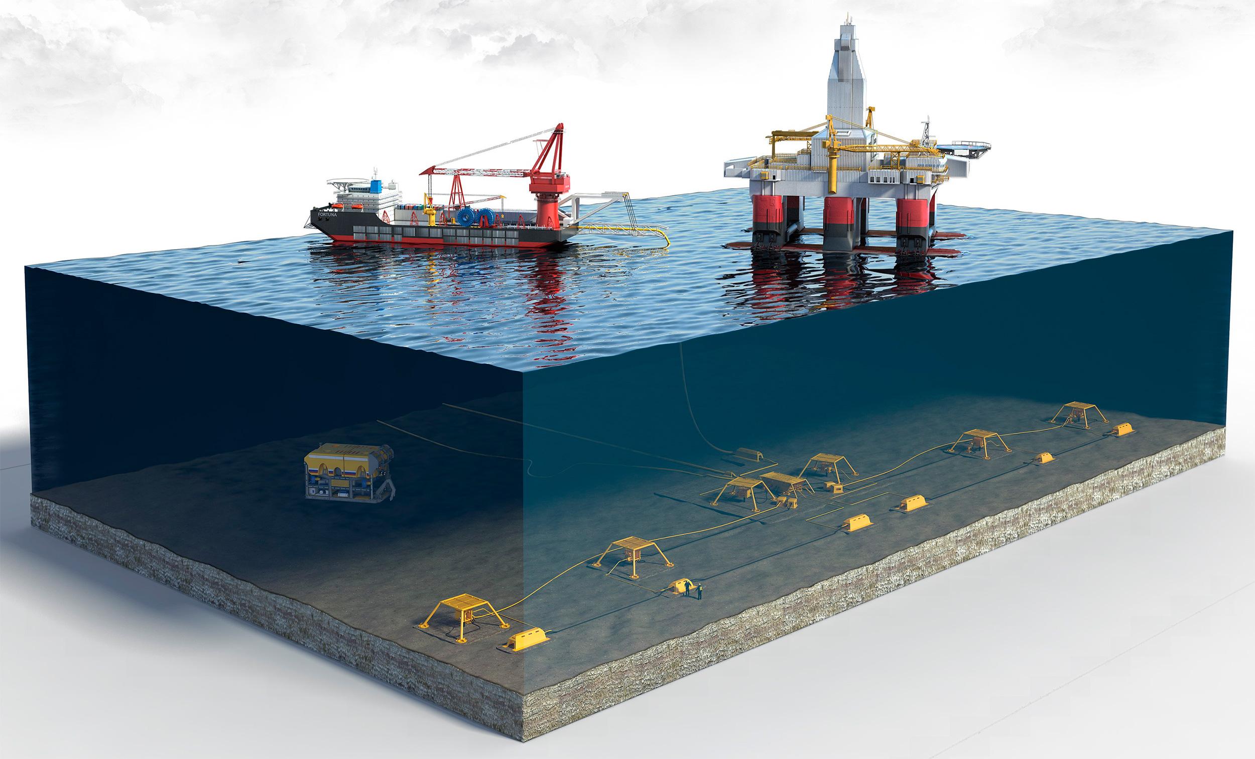 Автоматизированная система для подводной добычи нефти и газа на арктическом шельфе, разрабатываемая Томским государственным университетом систем управления и радиоэлектроники (ТУСУР).