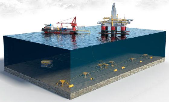 Автоматизированная система для подводной добычи
