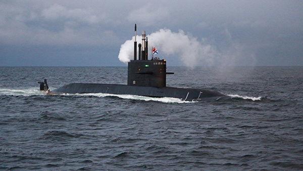 """Подлодка проект 677 """"Лада"""" в Баренцевом море"""