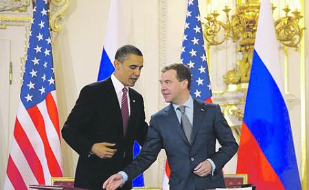 Подписание СНВ-3 вселило в Барака Обаму и Дмитрия Медведева надежду на перезагрузку российско-американских отношений. Фото с сайта www.kremlin.ru