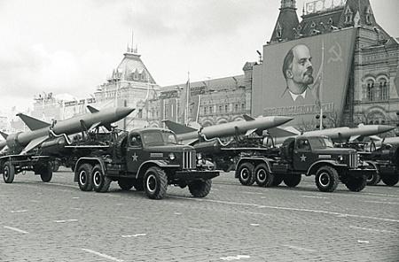 Подразделение зенитных ракет на военном параде. Ноябрь 1968 года. Фото © РИА Новости