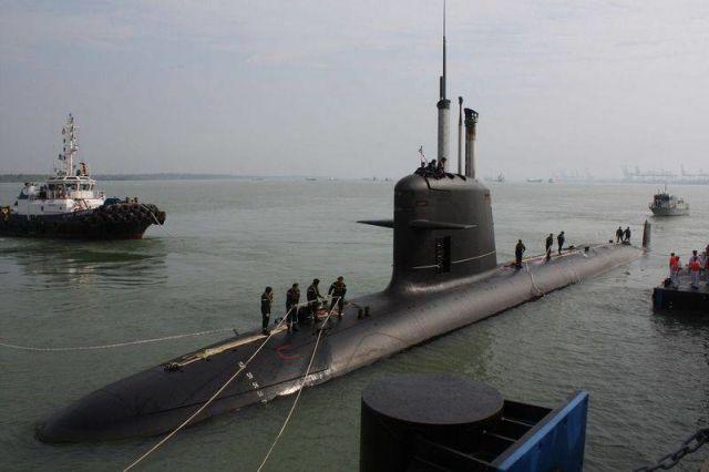 подводная лодка типа Scorpene ВМС Малайзии
