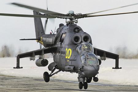 Покрывший себя боевой славой Ми-24. Фото Алекса Бельтюкова