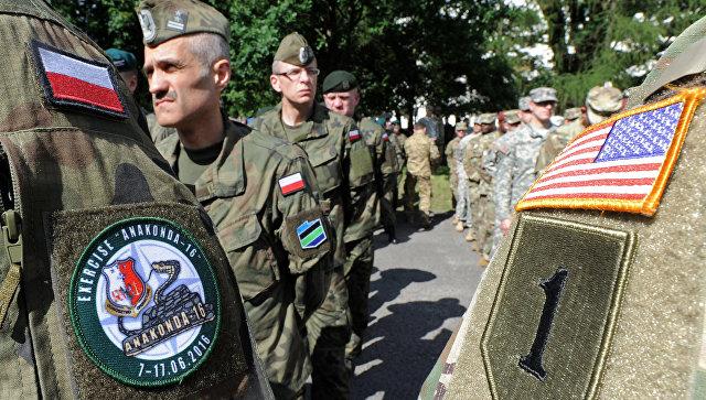 Польские и американские военные во время учений в Польше. Архивное фото.