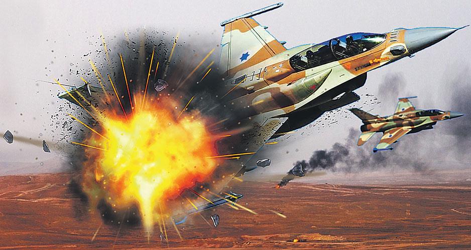 Поражение истребителя F-16 Sufa.
