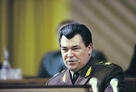 Последний министр обороны СССР маршал Евгений Шапошников. Фото © РИА Новости