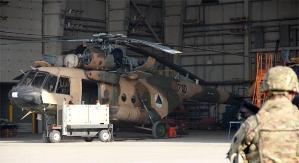 Ми-17 ВВС Афганистана.