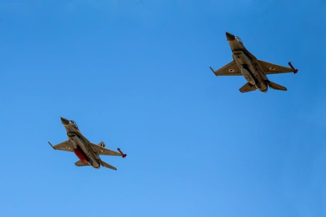 Самолет F-16 ВВС Израиля.
