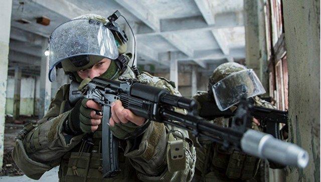 Практическая тренировка подразделений штурма и разграждения инженерно-саперного соединения инженерных войск ВС РФ.