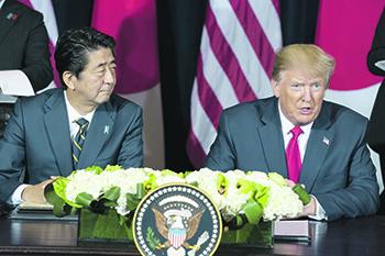 Премьер-министр Синдзо Абе и президент Дональд Трамп договорились о повышении расходов на содержание американских войск в Японии. Фото со страницы Белого дома в Flickr