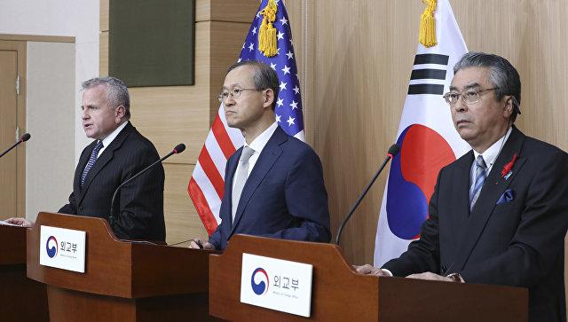 Пресс-конференция по итогам двусторонних стратегических переговоров между США и Южной Кореей в Сеуле. 18 октбря 2017.