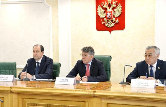 Президиум заседания СФ ОПР РФ