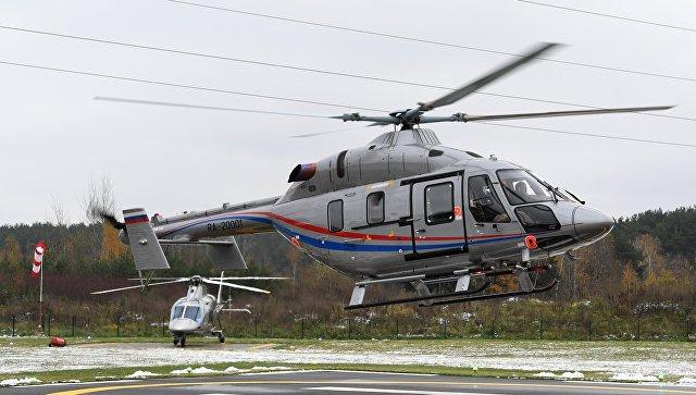 Презентация легкого многоцелевого двухдвигательного вертолета Ансат . Архивное фото.